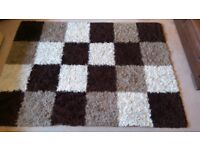 Rug (light brown,dark brown and cream colour)size 230x160 cm
