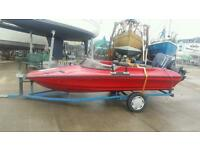 16 foot speed boat 60hp evenrude outboard