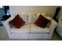 Sofa bed, metal action, cream
