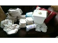 Cloth nappies birth to potty large full set