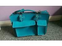 Turquoise satchel unisex