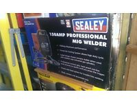 Professional Sealey 150 Amp Gas / Gasless Mig Welder New In sealed box.