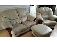 Leather two seats sofa