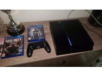 Playstation 4, boxed with 2 games in excellent condition