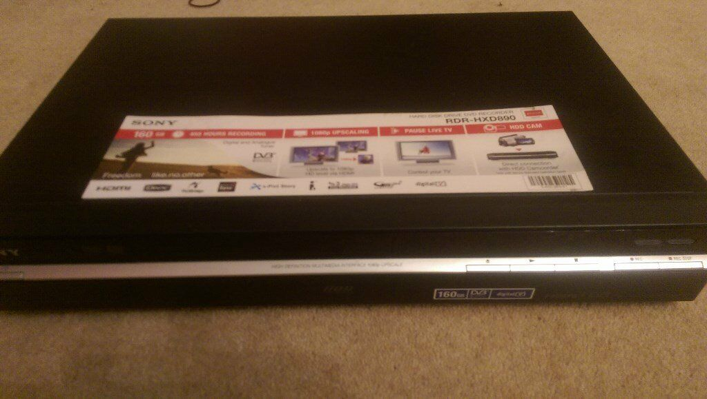 sony HD 160gb 400hrs dvd player recorder top of the range as new