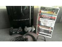 PS3 + 21 GAMES + 2 CONTROLLERS + HDMI