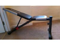 Maximuscle adjustable weights bench - as new