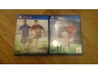 Fifa 15 and Fifa 16 for ps4