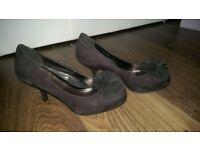 Black size 4 shoes