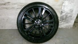 ALLOYS X 5 OF GENUINE RANGEROVER DISCOVERY FULLY POWDERCOATED IN STUNNING BLACKSPARKLE