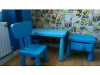 Ikea MAMMUT Children's Tables and Chairs