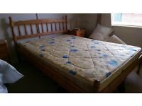 Double bed and mattress - free to good home!