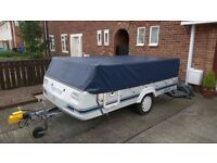 Pennine Fiesta folding camper 2001 with awning