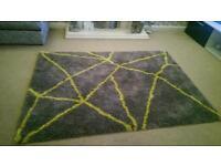 Luxury grey modern rug