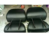 Mg zs rover 45 front and rear headrests