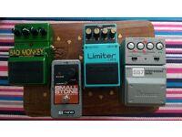 Guitar Pedals: Boss, Electro Harmonix, DigiTech, Ibanez