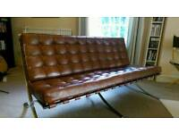 Barcelona-chair 3 seater couch.