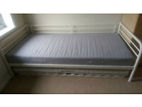 Single bed with pull out under bed