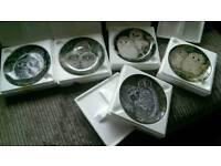 5 x Wedgwood Baby Owl Plates Ex Cond