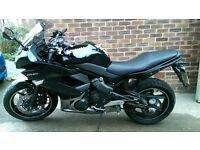 Kawasaki ER6 f 10/11 EX650 CAF Black 4000 miles can be A2 restricted er6