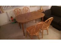 Dining table and 4 chairs, good condition