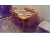 Dining table & six chairs - £60