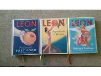 3 x LEON Cookery Books (AS NEW - Never Used) £4 each or All Three for £10