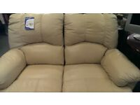 Two Seater Leather Manual Recliner Sofa