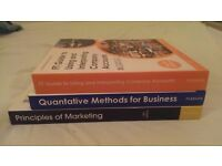 A set of three marketing textbooks, ideal for 1st year marketing students