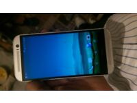 htc one m8 unlocked silver fully works has 1 crack on touch screen