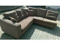 Corner sofa brown