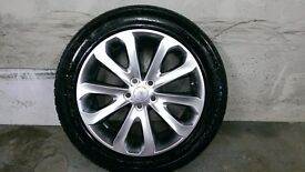 ALLOYS X 4 OF GENUINE 20 INCH RANGEROVER/VOGUE/FULLY POWDERCOATED IN A STUNNING SHADOW/CHROME NICE