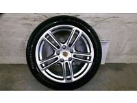 ALLOYS X 4 OF 19 INCH GENUINE PORSCHE/PANAMERA/FULLY POWDERCOATED IN A STUNNING SHADOW/CHROME/NICE