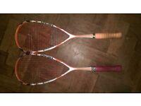 Head 120 ProTour Microgel Squash Rackets, Prince Spectrum and Slazenger Power Blade Ultra Badminton