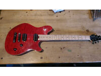 EVH Wolfgang Standard WG-T Red Quilted Maple hardtail TOM bridge *great condition*