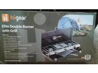 Hi gear ELITE DOUBLE BURNER WITH GRILL
