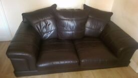 Immaculate Semi Leather Sofa