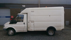 Ex-BT Ford Transit T350 MWB 86k miles with clean MOT & large fibreglass body ideal for conversion!!