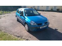 Renault Clio Expression 16V 1.2 Petrol Manual. MOT Part Service History Good Cheap Runabout