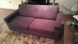 Almost brand new DFS dark grey 3 seater sofa