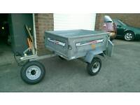 Erde 102 Trailer with cover and spare wheel