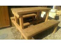 Adult sized picnic bench fully treated