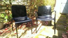 2 x Habitat Black 'Tallow' Dining Chairs - Iconic Style Classics - RRP: £150 each