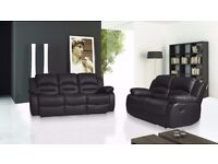 LEATHER RECLINER SUITE - DELIVERED - BRAND NEW - UNBEATABLE PRICES OFFERED
