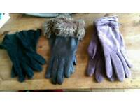 X3 pairs of Gloves