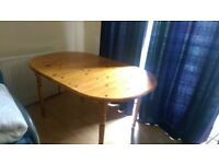 Solid Pine table with six chairs in Tooting Broadway!