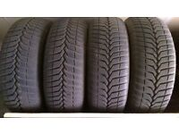 Four Vredstein Snowtrac 3 winter tyres sized 185_65_R15 on steel wheels
