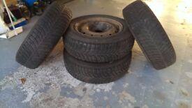 Goodyear UltraGrip 7+ Tyres on rims (4 of)