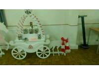 Candy cart and pop corn machine