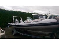Rib for sale - Ribtec 585 with mariner 90hp Outboard